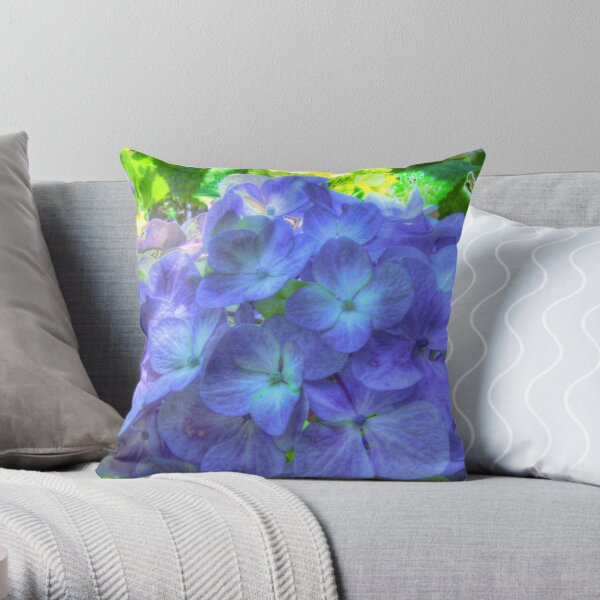 Glorious Blue Throw Pillow