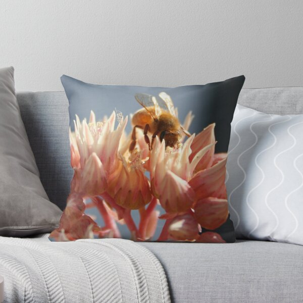 Succulent Kiss Throw Pillow