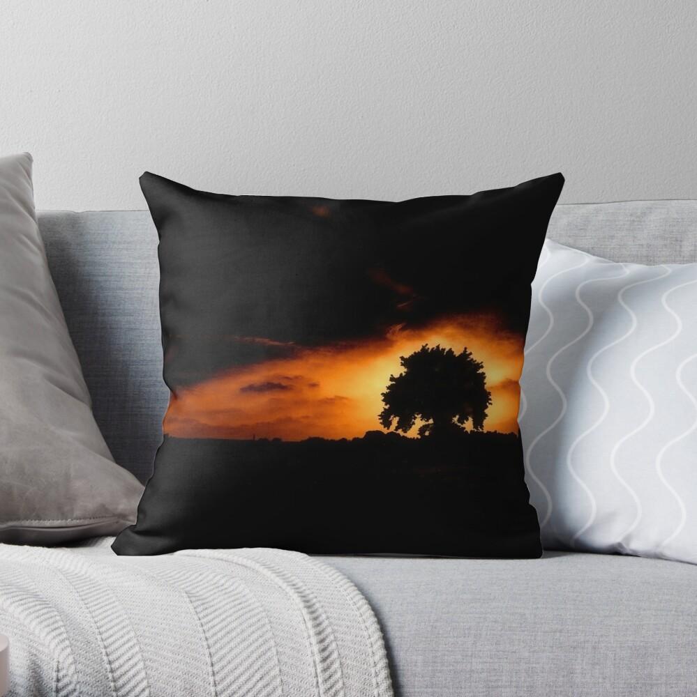 Tree, Darkness Throw Pillow