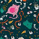 «Chompy gatos en verde azulado» de schutterkm