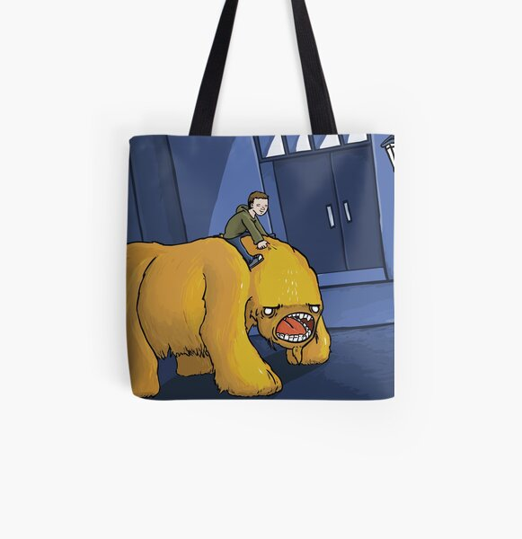 A Boy and His Monster All Over Print Tote Bag