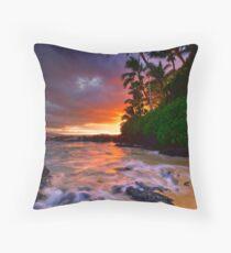 Pa'ako Beach Gold Throw Pillow