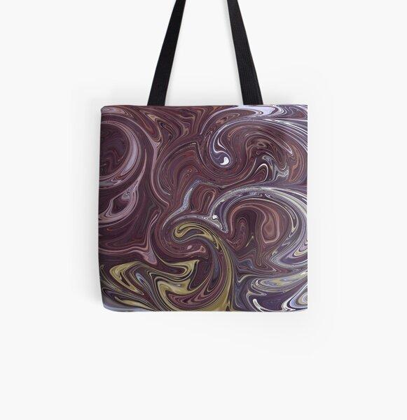 Swirls All Over Print Tote Bag
