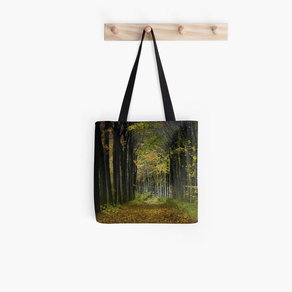 Lane; trees Tote Bag