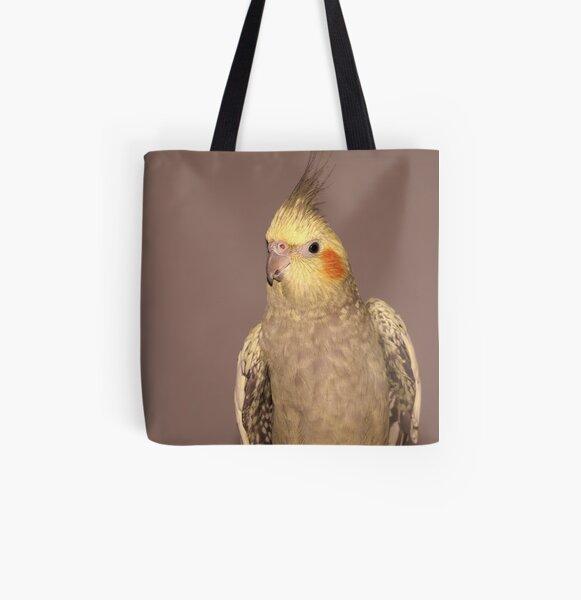 Female Cockatiel All Over Print Tote Bag