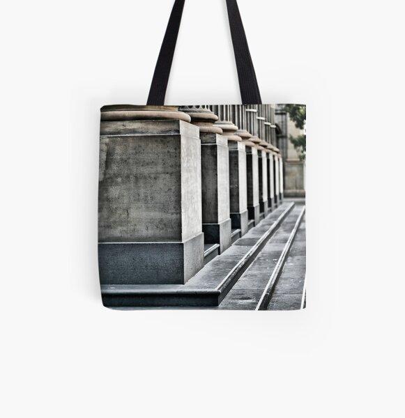 Columns. All Over Print Tote Bag