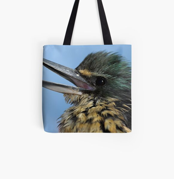 New Zealand Kingfisher All Over Print Tote Bag