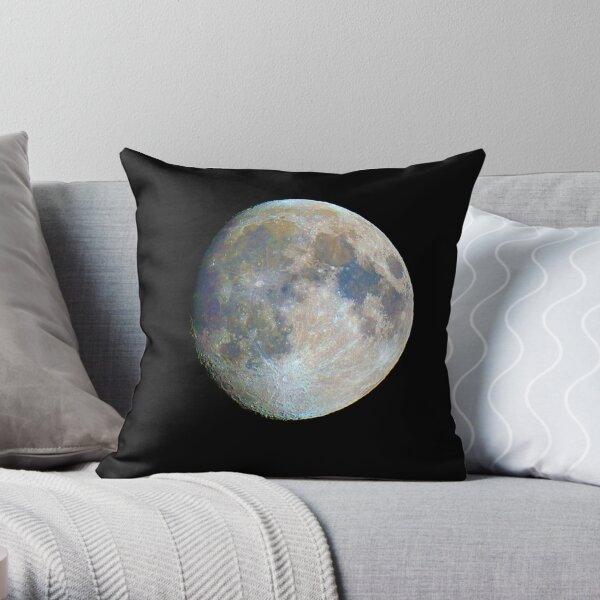 moon in colour Throw Pillow