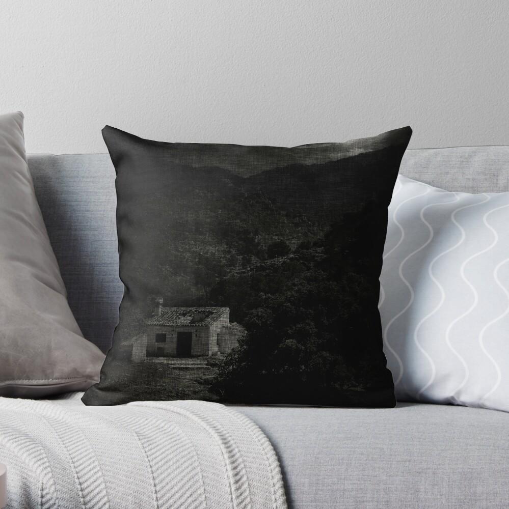 house; moonlight Throw Pillow