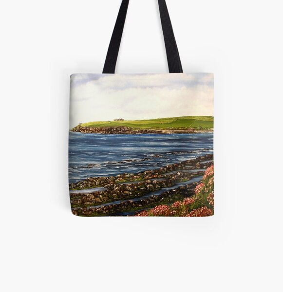 """""""Kilbaha - county Clare, Ireland"""" - Oil Painting All Over Print Tote Bag"""