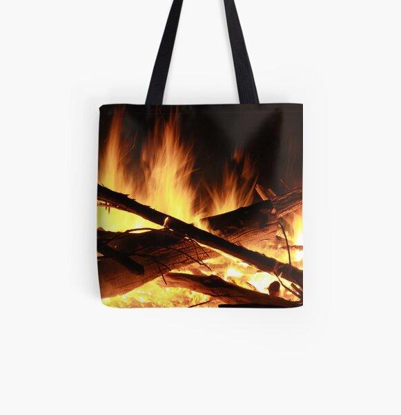 Burn All Over Print Tote Bag