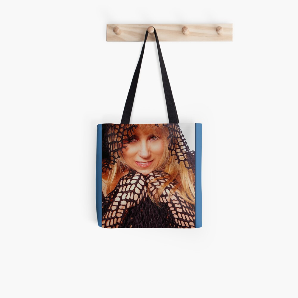 Beatuful Blond in Mesh Cape with Hood Tote Bag