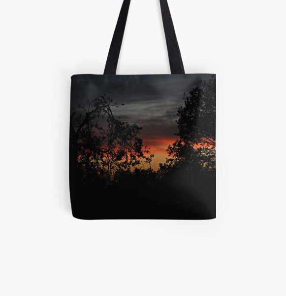Trees On Sunset All Over Print Tote Bag