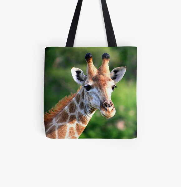 Giraffe All Over Print Tote Bag