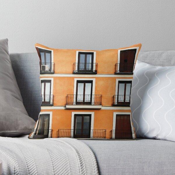 Madrid, Spain. Throw Pillow