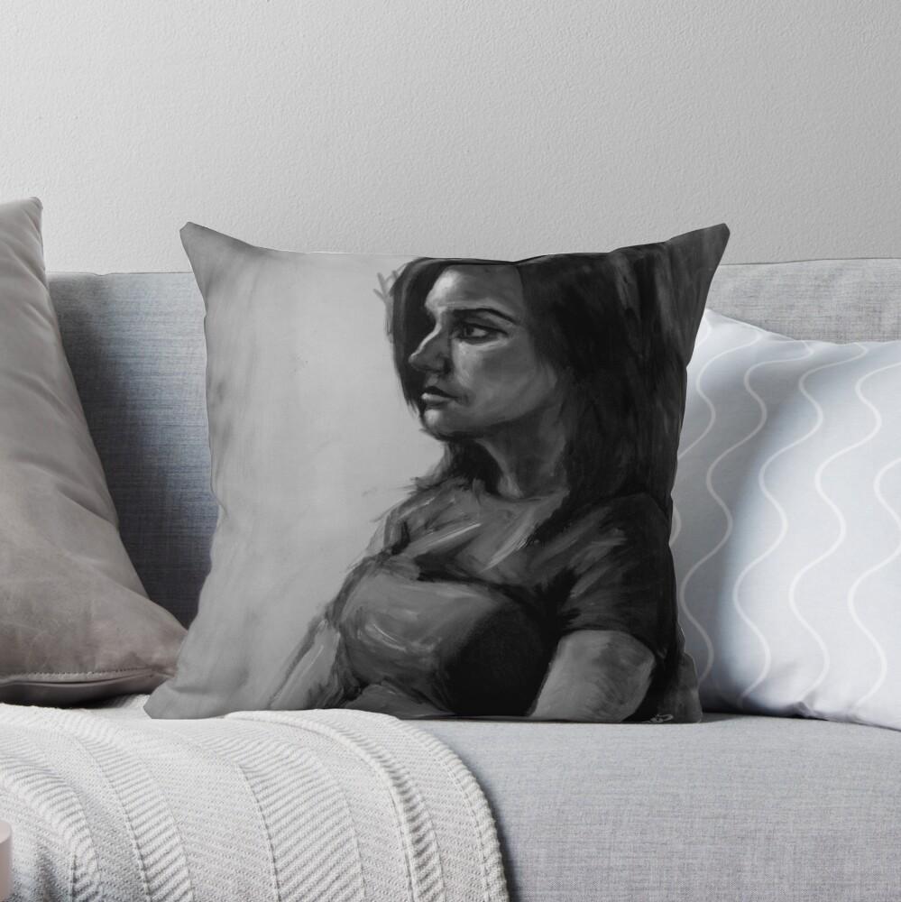 Life painting Throw Pillow