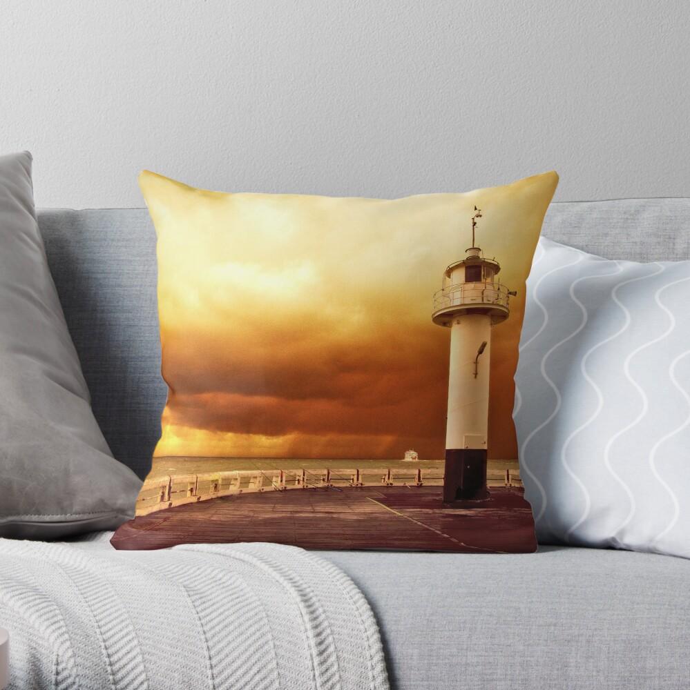 Pier Oostende Throw Pillow