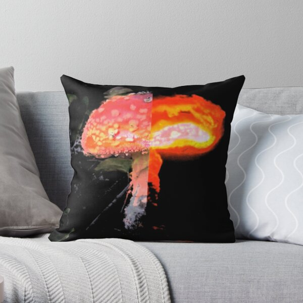 Nuclear Mushroom Throw Pillow