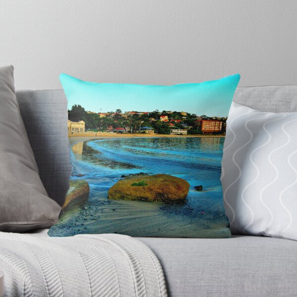 Blue Dawn - The Photographers Cut - Balmoral Beach - The HDR Experience Throw Pillow