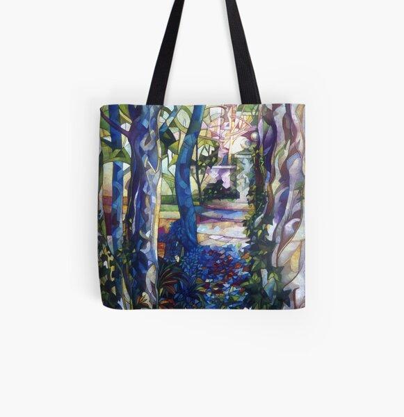blue garden All Over Print Tote Bag
