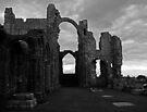 Lindisfarne Priory (B&W) by Ryan Davison Crisp
