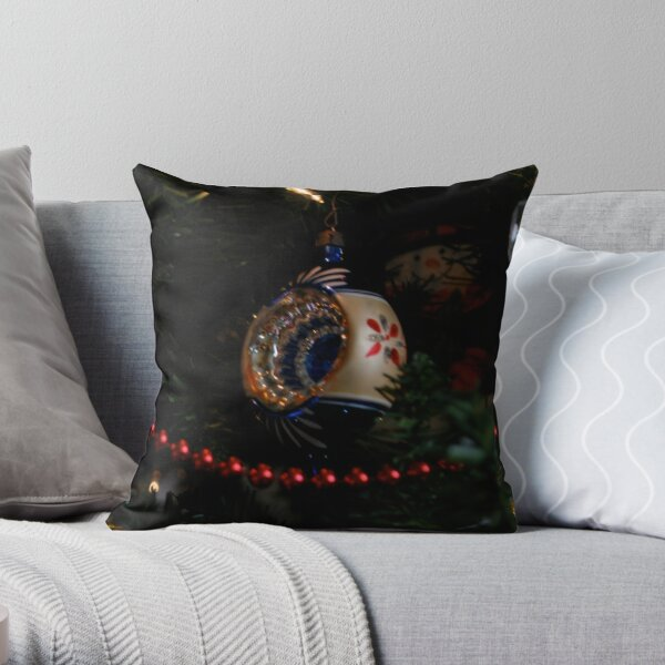 antique christmas decoration Throw Pillow