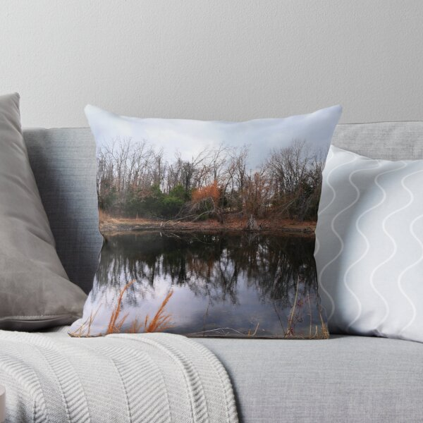Pond Life Throw Pillow