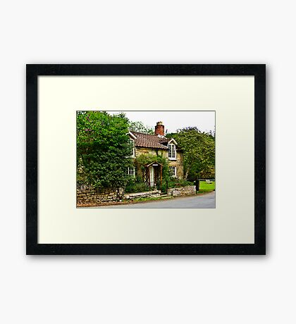 Country Cottage - Lastingham Framed Print