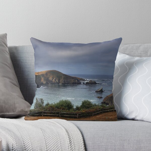 Albion River Cove Throw Pillow