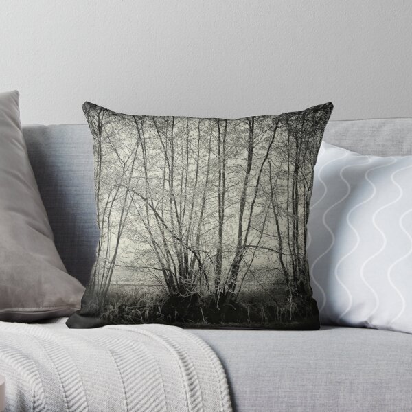 branches in the mist Throw Pillow