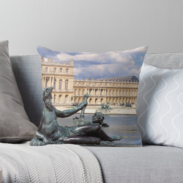 Neptune, Versailles Throw Pillow