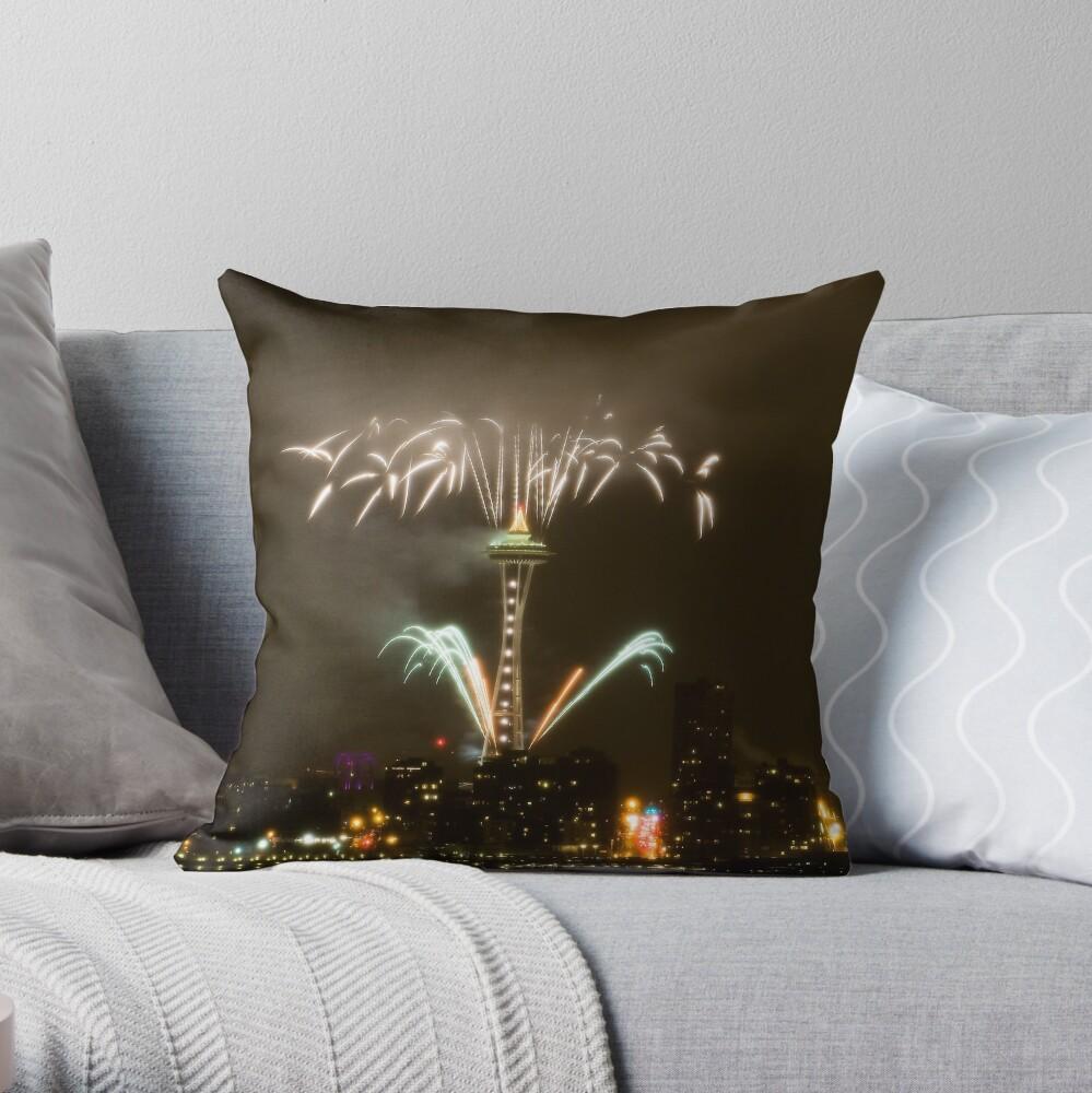 2009: Seattle Enlightened  Throw Pillow