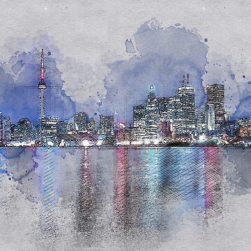 Night Time in Toronto by mrthink