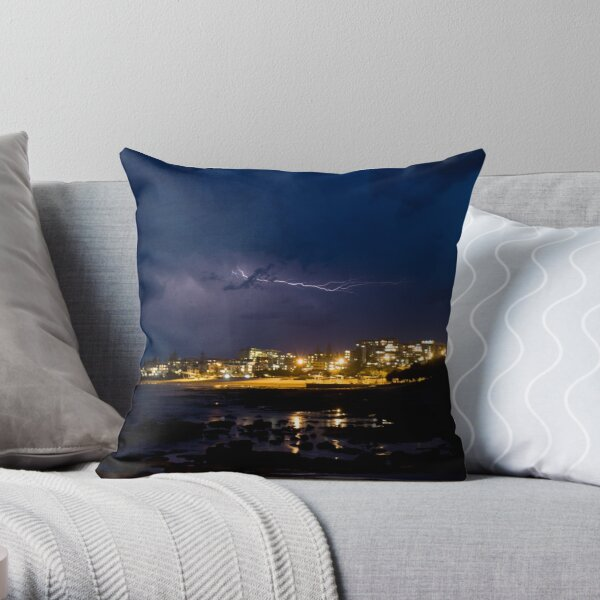Storm over the King Throw Pillow
