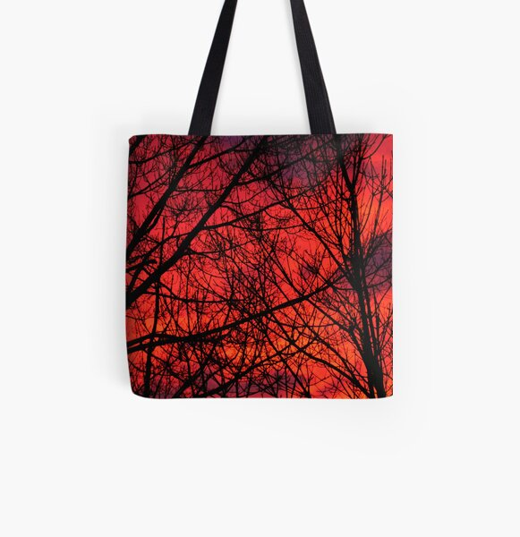Fire In the Sky All Over Print Tote Bag