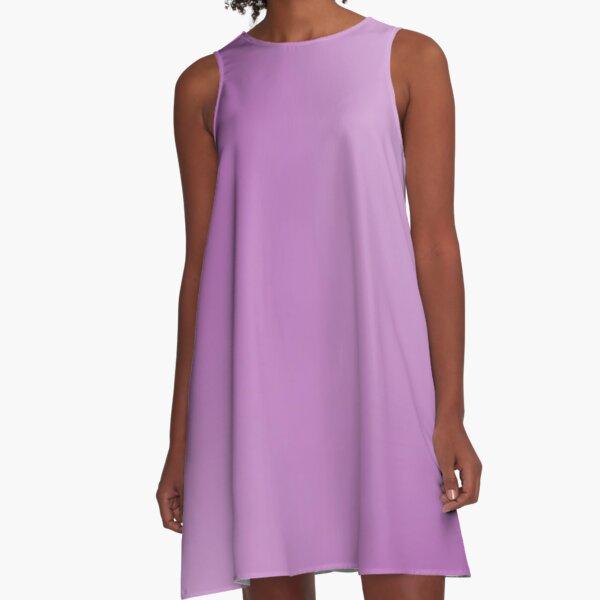 Dark Purple and White Gradient A-Line Dress