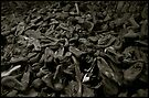 Auschwitz mountain of shoes by Peter Harpley