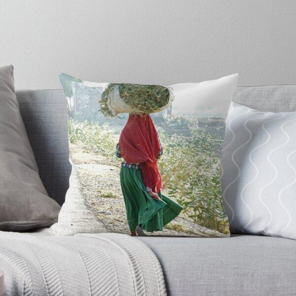 Young Indian woman Throw Pillow