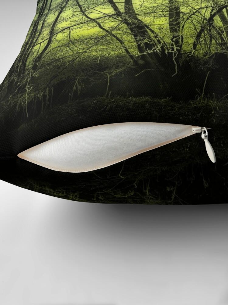 Alternate view of green  Throw Pillow