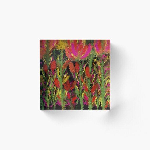 Flowers Acrylic Block