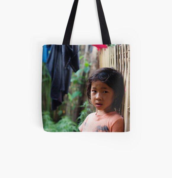 Hmong Girl All Over Print Tote Bag