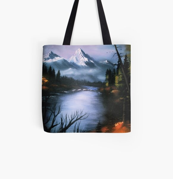 Alaskan Autumn All Over Print Tote Bag