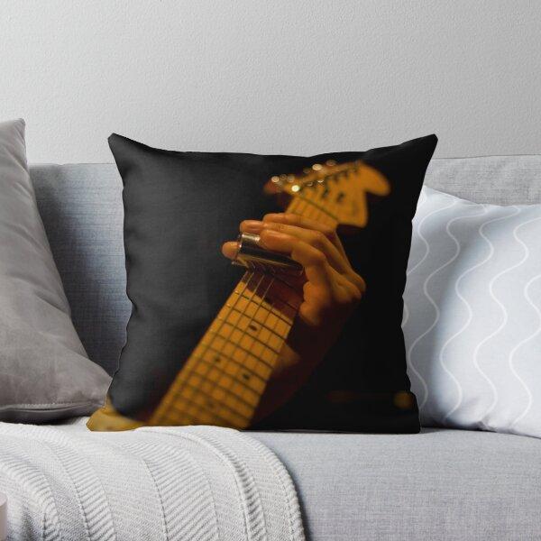 Slide Guitar Throw Pillow