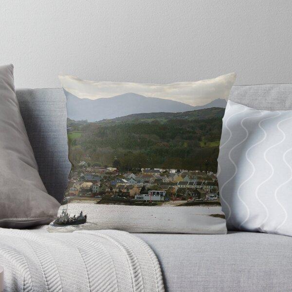 Strangford, County Down Throw Pillow