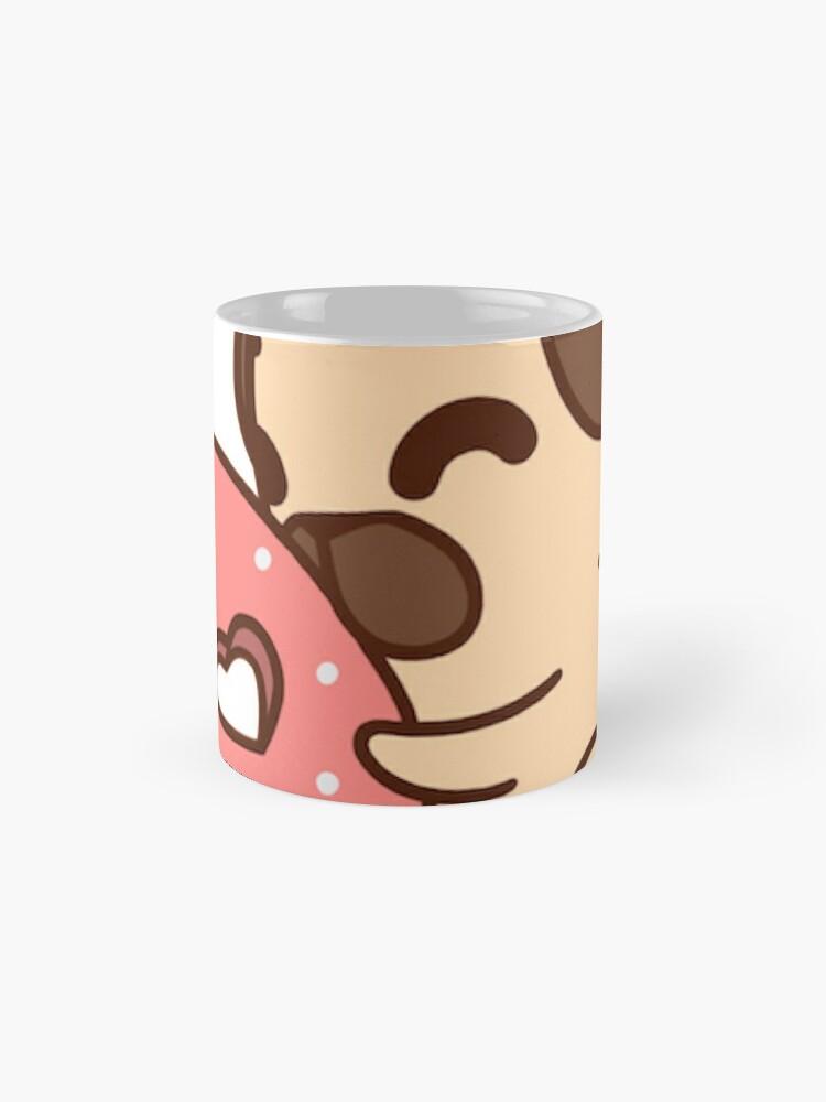 Alternate view of Cute Pug With Doughnut Mug