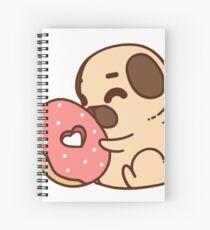 Cute Pug With Doughnut Spiral Notebook