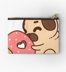 Cute Pug With Doughnut Studio Pouch