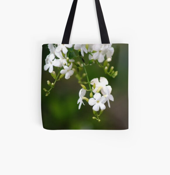 white lilly pily All Over Print Tote Bag