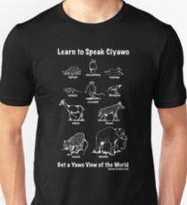 Learn to Speak Ciyawo: Get a Yawo View of the World (for dark shirts) Unisex T-Shirt