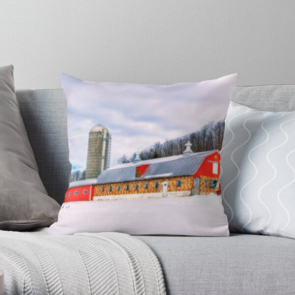 Waiting For The Cows To Come Home Throw Pillow